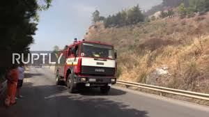Bc Wildfire Boulder Creek by Italy Firefighters Battle Flames As Wildfire Rips Through Sicily