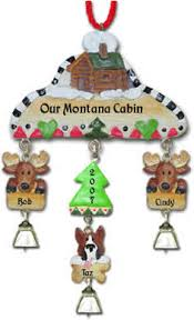 personalized cabin christmas ornaments