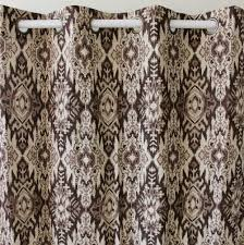brown damask curtains promotion shop for promotional brown damask