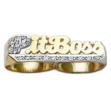 two finger name ring personalized two finger rings name jewelry