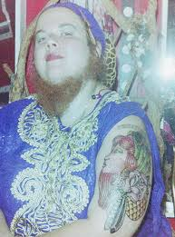 televandalist jessa the bearded lady with her new tattoo
