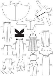 paper doll template blank paper doll template blank paper doll