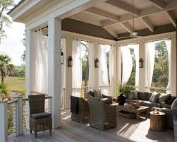 Black Outdoor Curtains Outdoor Curtains Transitional Deck Patio Wayne Windham Architect