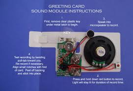 recordable cards recordable greeting card sound modules print your own musical cards