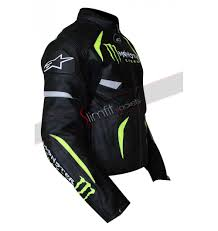 racing biker jacket monster energy scream leather jacket