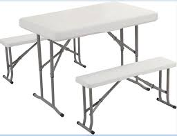 Folding Conference Tables China Plastic Folding Conference Table With Bench Attached Photos
