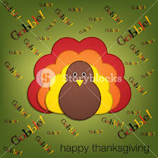 yelling turkey thanksgiving card in vector format royalty free