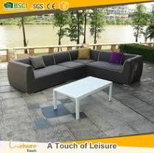 Patio Furniture Upholstery Modern Design Rattan Sectional Sofa Set Outdoor Furniture Wicker