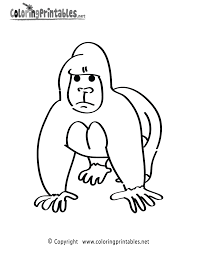 amazing gorilla coloring pages best coloring b 8760 unknown