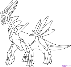 Legendary Pokemon Coloring Pages Palkia Free Coloring Library