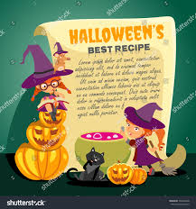 cute happy halloween pictures cute cartoon happy halloween recipe design stock vector 309220448
