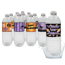 halloween water bottle labels set of 20 u2013 distinctivs