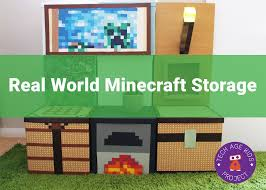 how to write on paper in minecraft making real world minecraft from ikea storage boxes
