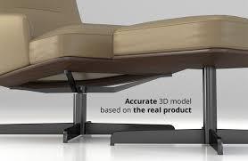 Minotti Armchair 3d Model Minotti Coley Soft Lounge Chair Set Cgtrader