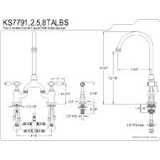 kingston brass ks7792talbs tudor polished brass two handle bridge