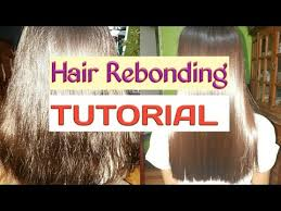 hair rebonding at home hair rebonding at home steps to do 1 youtube