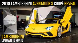 lamborghini aventador 2018 2018 lamborghini aventador s coupé reveal at lamborghini uptown