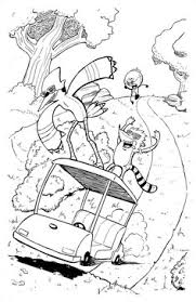 regular show colouring sheets mordecai rigby colouring