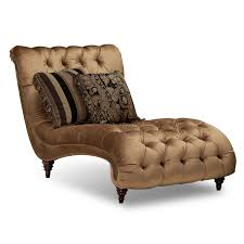 Leather Chaise Lounge Chair Gold Tufted Chaise Lounge Chair With Accent Pillows In Bedroom