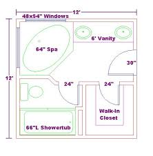 floor plans for bathrooms prepossessing 80 master bathroom floor plans corner tub
