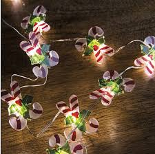 Candy Cane Lights Candy Cane Micro Led Battery Operated String Lights Timer Buy Now