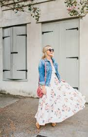 denim jacket for fall living in color print