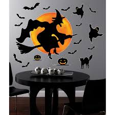 outdoor halloween witch decorations halloween dancing witch and cat silhouette template stencil