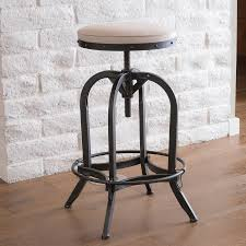 shop best selling home decor gunner cream adjustable stool at