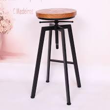 Simple High Chair Retro Loft Old Wrought Iron Wood Bar Chair Lift Bar Simple Casual