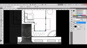 floor plan rendering using photoshop tutorial youtube