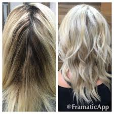 organic hair salons temecula color correction from grown out brassy blonde to beautiful cool