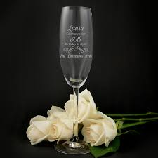 wine birthday candle engraved birthday champagne glasses 18th 21st birthday gift