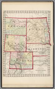 Colorado Counties Map County Map Of Colorado Wyoming Dakota Montana David Rumsey