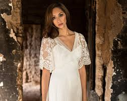 Whimsical Wedding Dress Modern Vintage Elegant Boho Wedding Dresses By Martinmccreacouture