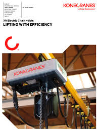 xn electric chain hoist konecranes pdf catalogue technical