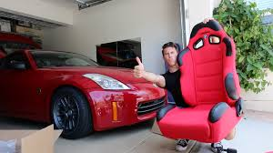 Nissan 350z Red - racing seats in the 350z install youtube