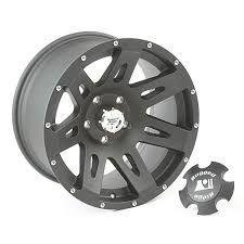 black jeep rugged ridge 15311 01 xhd aluminum wheel black satin 17 inch x 9