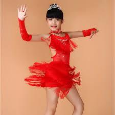 new sequin kids fringe salsa dress tassel child soft latin dresses
