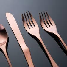 Modern Flatware Sets by Copper Flatware Set 5 Piece Set Knork Touch Of Modern