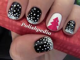 snowy christmas tree nail art polishpedia nail art nail guide