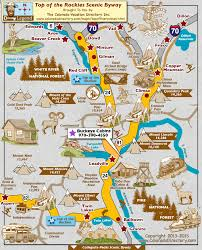 top of the rockies scenic byway map colorado vacation directory