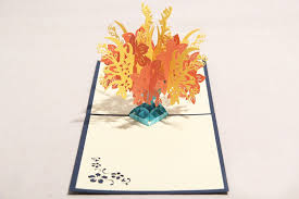 hotsale 3d tree flower post 3d s day greeting