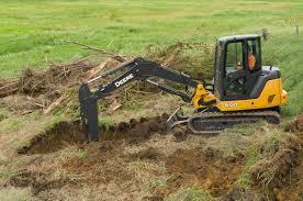 reduced zero tail swing excavators john deere construction