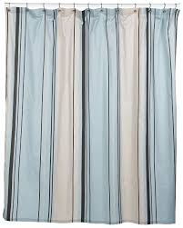 Brown And Teal Shower Curtain by Nautica West End Blue Brown Beige Striped Fabric Shower Curtain