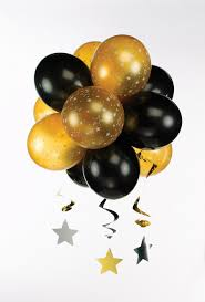 black and gold party supplies black u0026 gold topiary balloon