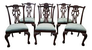 Chippendale Dining Room Table Ethan Allen Mahogany Chippendale Style Chauncey Dining Room Side