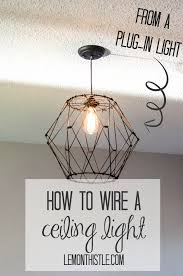 How To Mount A Ceiling Light How To Wire A Ceiling Pendant Lemon Thistle