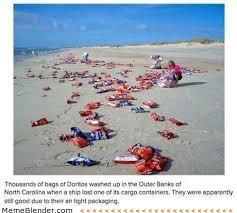 North Carolina Meme - doritos washed up on beach in north carolina meme collection