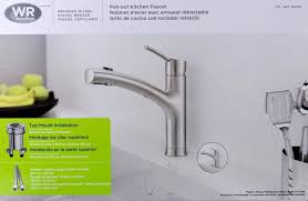 gold water ridge pull out kitchen faucet wide spread single handle