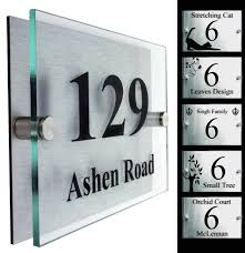 modern glass and stainless house number ideas popular home